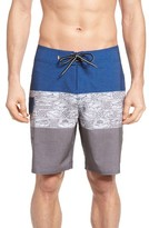 Quiksilver Men's Waterman Collection Fairway Tri Block Board Shorts