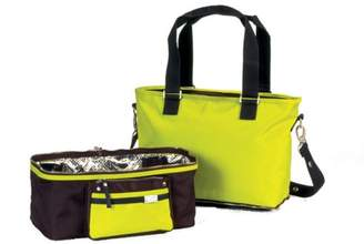 Little Company Spice Shopper/Cooling Bag in Chocolate Brown and Sunny Lime