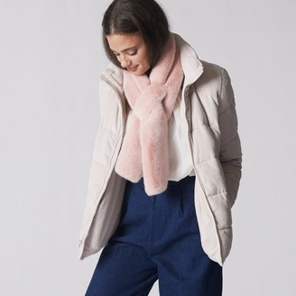 Love & Lore Love And Lore Fur Pull Through Scarf Blush Pink