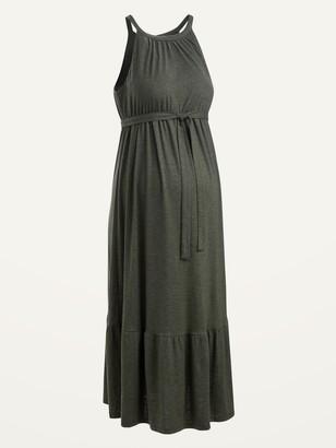 Old Navy Maternity Sleeveless Tie-Belt Maxi Dress