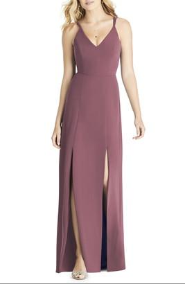 Social Bridesmaids V-Neck Chiffon A-Line Gown