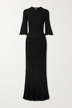 Bottega Veneta Ribbed-knit Gown - Black