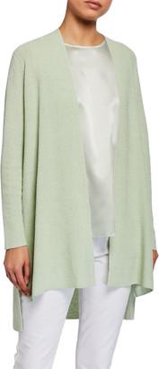 Eileen Fisher Organic Linen Long Crepe Cardigan
