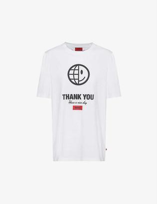 HUGO BOSS Graphic-print organic cotton T-shirt
