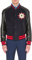 Alexander Mcqueen Wool-blend And Leather Varsity Jacket