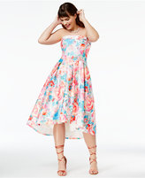 City Chic Trendy Plus Size Strapless High-Low Dress