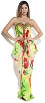 Shahida Parides - Red Floral-Print Maxi Caftan Dress In Tulip Print