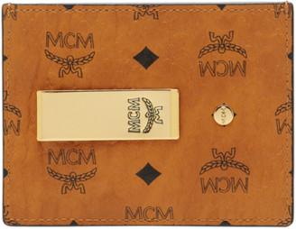 MCM Money Clip Card Case in Visetos Original