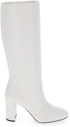 Prada Almond Toe Heel Boots