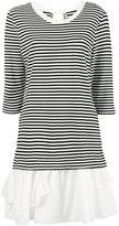 Moschino striped ruffle hem dress - women - Polyamide/Spandex/Elastane/Rayon - 42