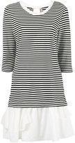 Moschino striped ruffle hem dress