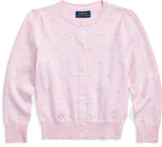 Ralph Lauren Knit-Heart Cotton Cardigan