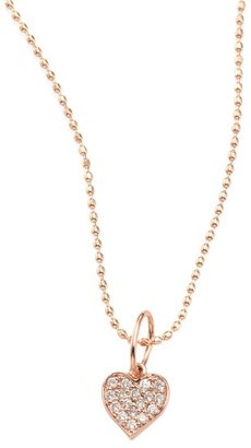 Sydney Evan Heart Diamond & 14K Rose Gold Pendant Necklace