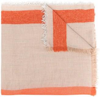 Altea Fine-Knit Stripe-Print Scarf