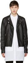 Diesel Black Gold Black Leather Biker Jacket