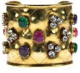 Chanel Crystal Gripoix Multi-Stone Cuff