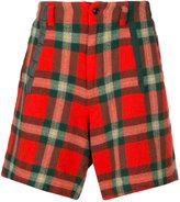 Kolor checked shorts