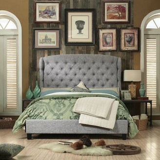 Charlton Homeâ® Threadgill Queen Tufted Upholstered Low Profile Standard Bed Charlton HomeA