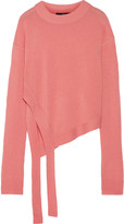 Tibi Asymmetric cashmere sweater