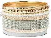 Charlotte Russe Embellished Bangle Bracelets - 7 Pack