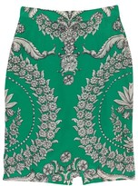 Yoana Baraschi Green Printed Pencil Skirt
