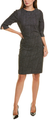 Sara Campbell Button Sheath Dress