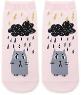 Forever 21 FOREVER 21+ Angry Cat Ankle Socks
