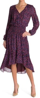 Parker Elizabeth High/Low Silk Blend Dress