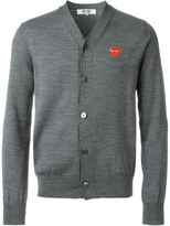 Comme des Garcons embroidered heart cardigan - men - Wool - S
