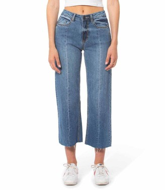 Laurèl Lola Jeans High-Rise Wide-Leg Crop Jeans