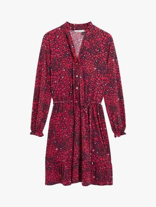 Oasis Heart Print Shirt Dress, Red Multi