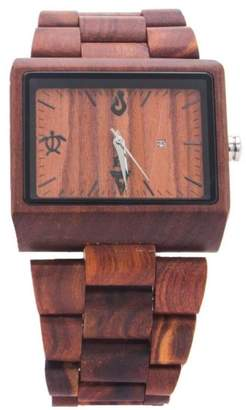 Bean & Vanilla Rectangular Sandalwood Watch