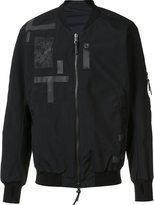 11 By Boris Bidjan Saberi patchwork bomber jacket - men - Polyester/Polyester Taffeta/Polyimide - S