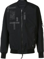 11 By Boris Bidjan Saberi patchwork bomber jacket