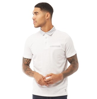 Fluid Mens Printed Collar Polo White
