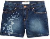 Jessica Simpson Kiss Me Doodle Denim Shorts, Big Girls (7-16)