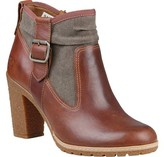Timberland Women's Glancy Fabric and Leather Side Zip Boot