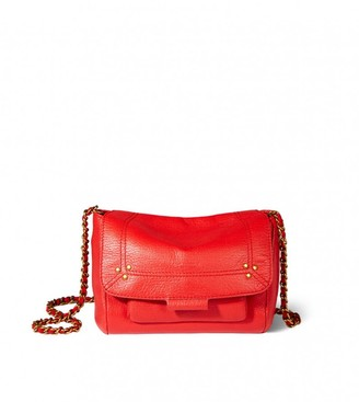 Jerome Dreyfuss Lulu Small Bag in Rouge Goatskin