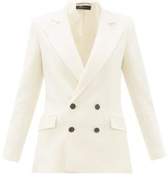 Roland Mouret Gilroy Double-breasted Wool-crepe Jacket - Womens - Cream