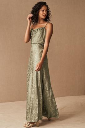 Jenny Yoo Dahlia Cowl Neck Dress