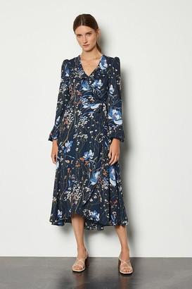 Dark Meadow Print Long Dress