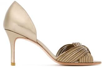 Sarah Chofakian Colagem peep toe pumps