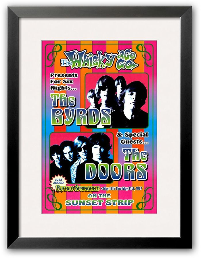 "Art.com The Byrds and the Doors at the Whiskey A-Go-Go"" Framed Art Print by Dennis Loren"