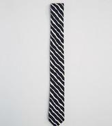 Reclaimed Vintage Inspired Stripe Tie In Black