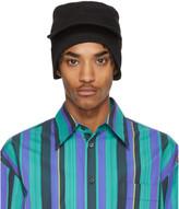 Marni Black Gabardine Workwear Cap