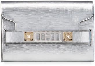 Proenza Schouler Chain PS11 Metallic Leather Clutch Bag