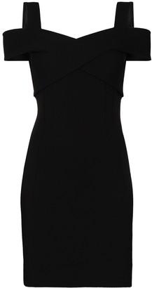 Dolce & Gabbana Cold-Shoulder Mini Dress