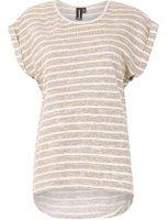 Dorothy Perkins Womens *Izabel London Beige T-Shirt- White
