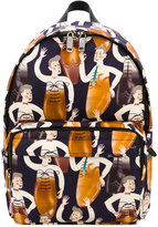 Bally printed backpack - men - Leather/Nylon - One Size