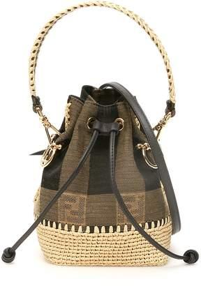 Fendi Mini Mon Tresor FF Jacquard Motif Bucket Bag